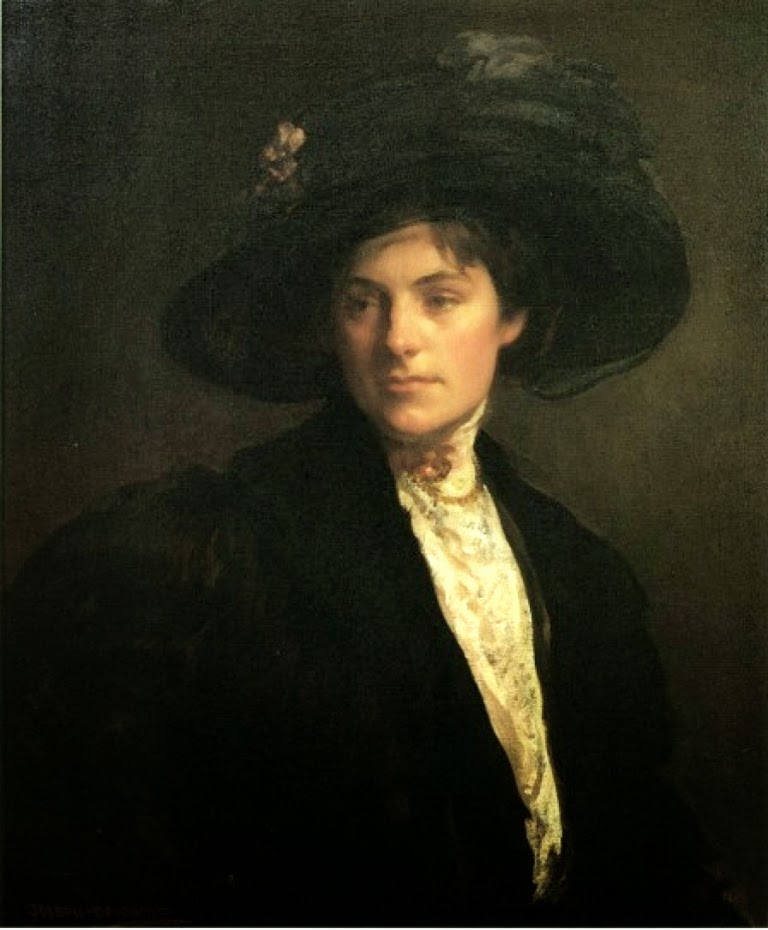 Joseph Rodefer DeCamp , International Art Gallery, Die Pelzjacke