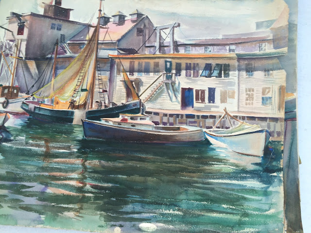 Maine Artist Francis Quirk,  Maritime Painting