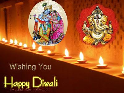 Radha krishna diwali images