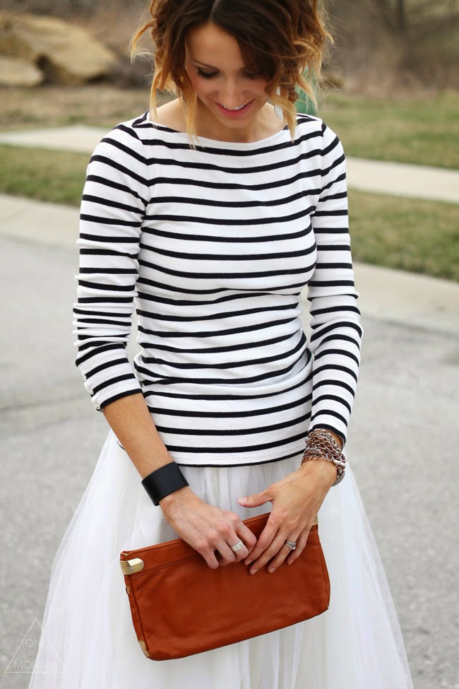 Stripes and a tulle skirt
