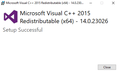 Visual c ++ redistributable for visual studio 2015