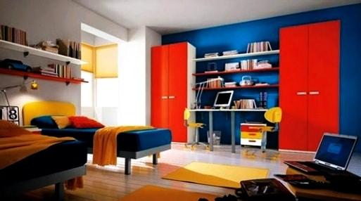 warna cat interior biru 4