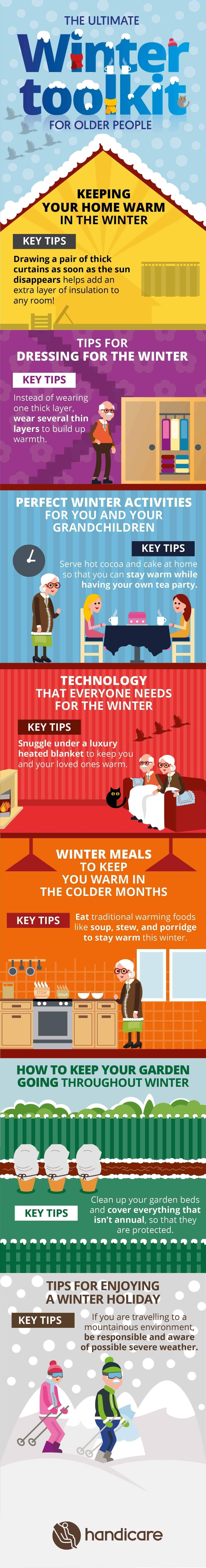The ultimate toolkit for elderly individuals in winter #infographic