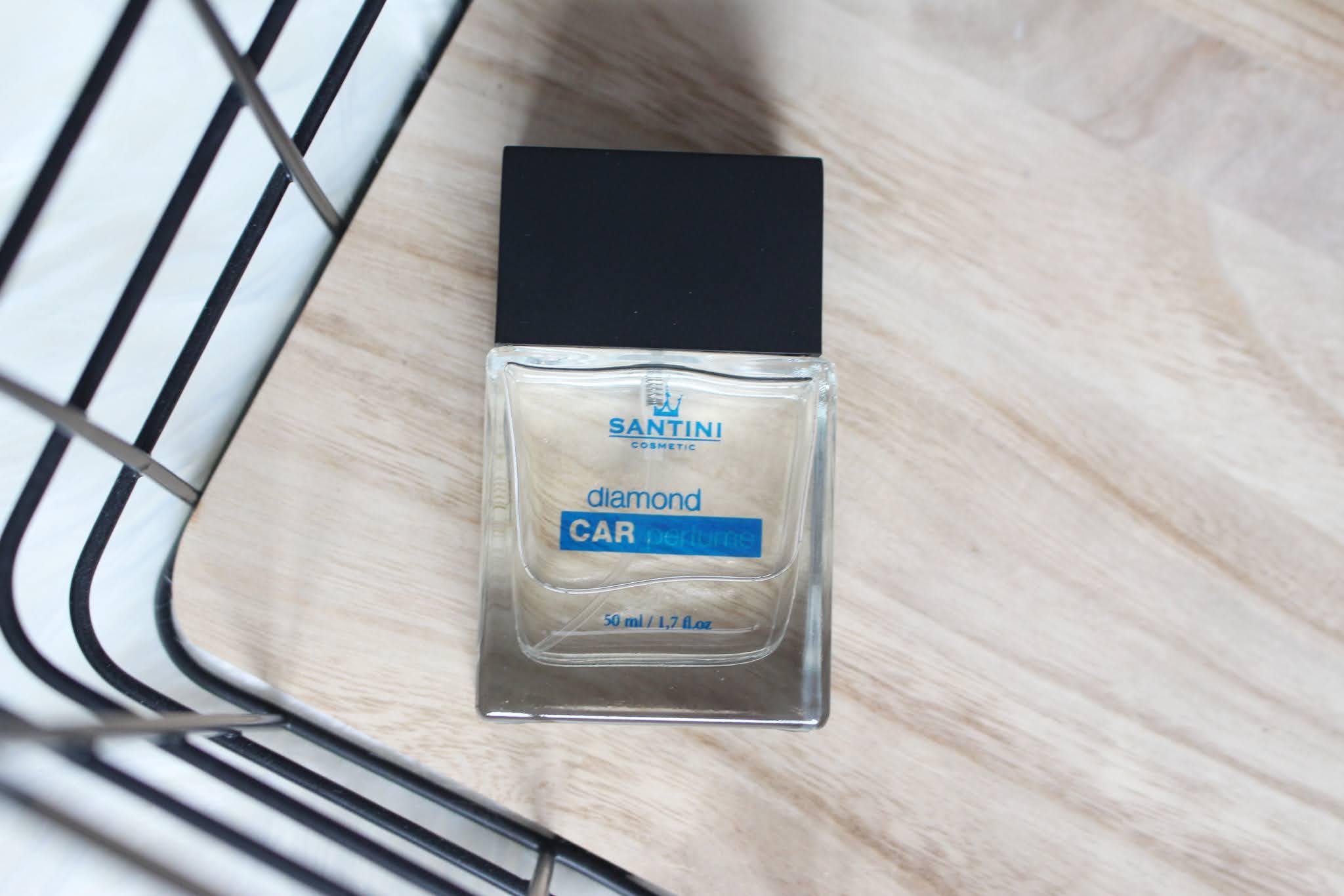 santini cosmetix, diamond blue, parfem do auta, car parfume, car, design, recenzia, notino, blog