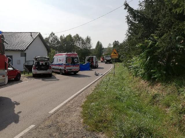 zdjęcie: policja/ Tragedia w Manasterzu: W wypadku zginął 14-letni rowerzysta