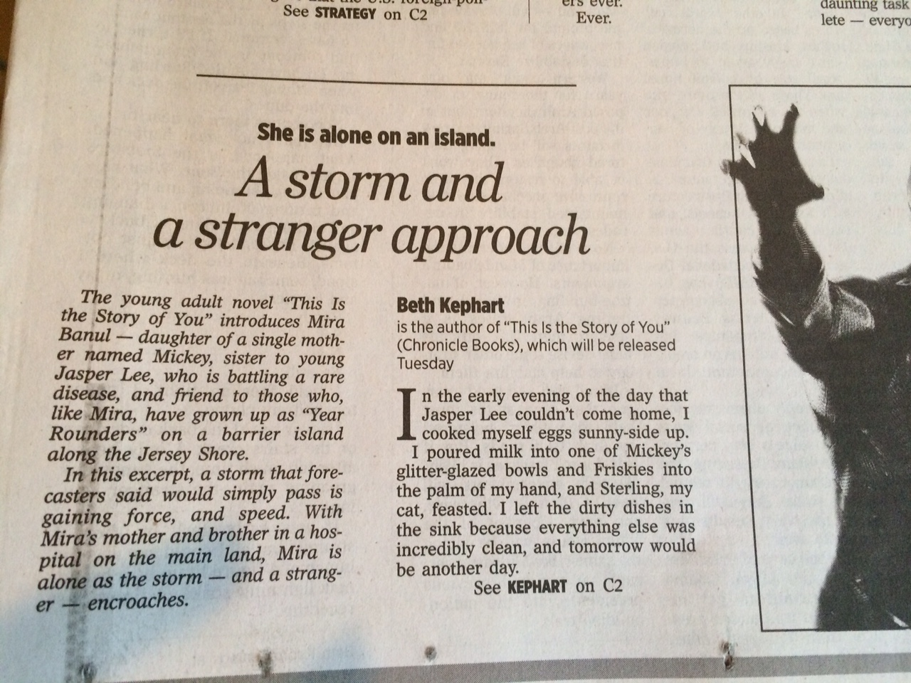 So grateful for this opportunity in the philadelphia inquirer this weekend sunday paper currents section