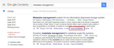 Impor RefMan di Google Scholar 2