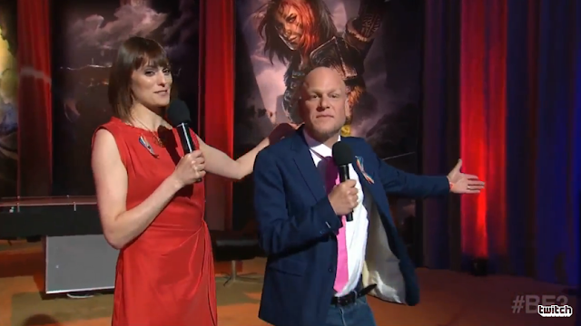 Morgan Webb and Adam Sessler Bethesda E3 2016 BE3 show