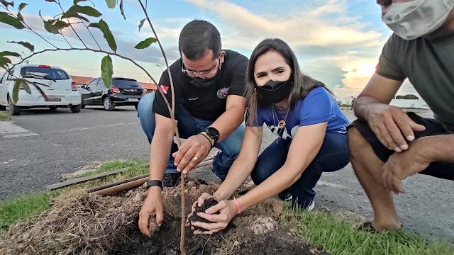 Área do Porto do D.E.R ganha 42 novas árvores em ação do programa Arborizar Santarém