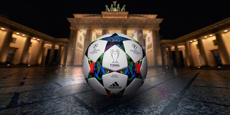 The new Adidas Finale Berlin Champions League Official Match Ball is  inspired by the German capital Berlin b1668f1602740