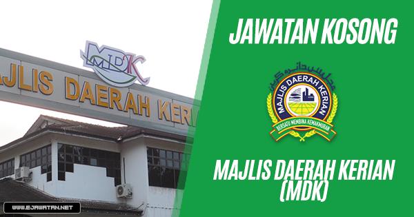 jawatan kosong Majlis Daerah Kerian (MDK) 2018