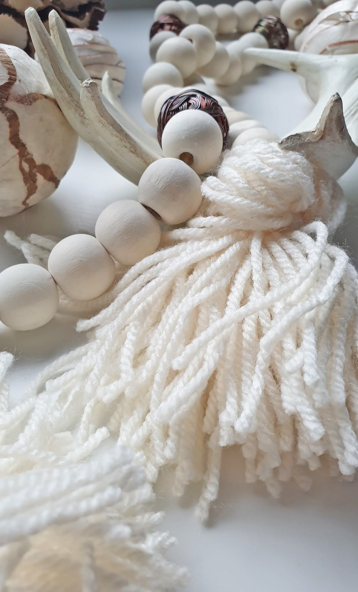 Christmas DIY wooden beads chain