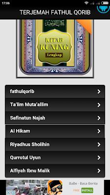 Tampilan Aplikasi Kitab Kuning Terjemahan