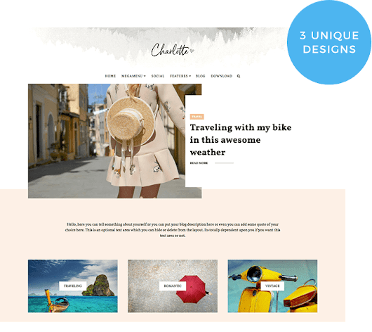 Charlotte Multipurpose Blogger Template | OddThemes