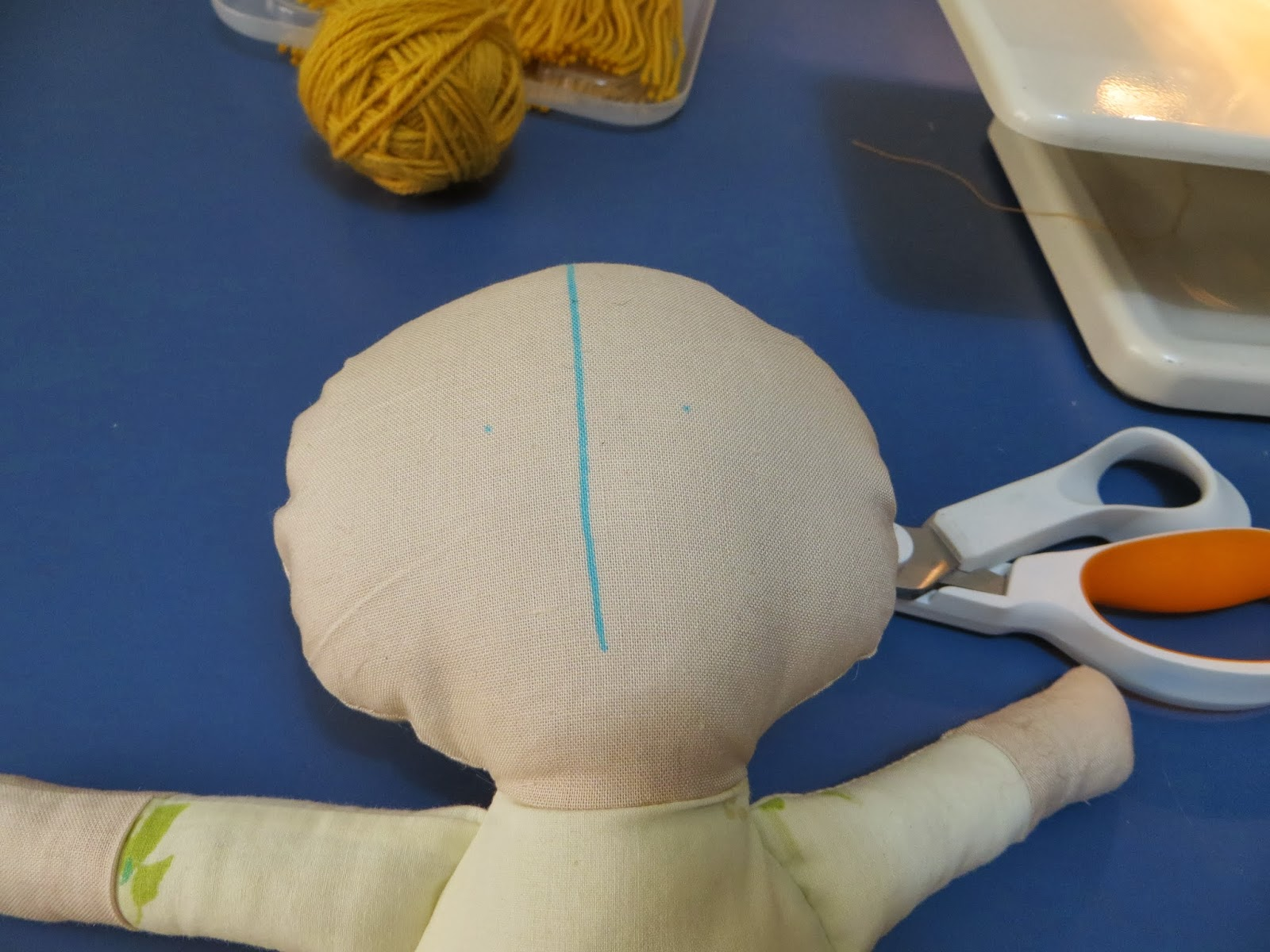 The Project Lady Fast Amp Easy Way To Make Doll Hair With Yarn