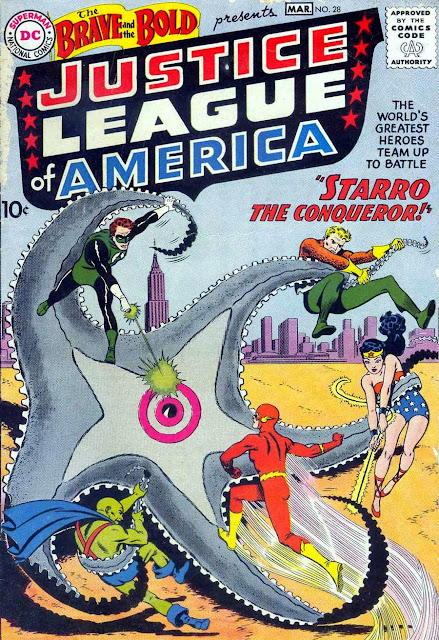 Brave and the Bold v1 #28, 1960 dc silver age comic book cover - 1st Justice League of America