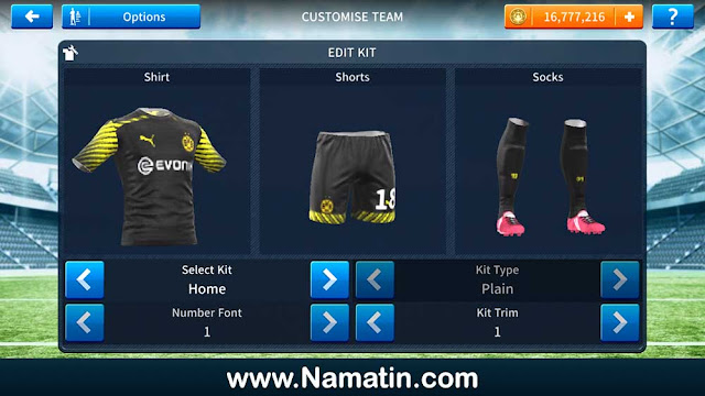 Kostum Dream League Soccer Borrusia Dortmund