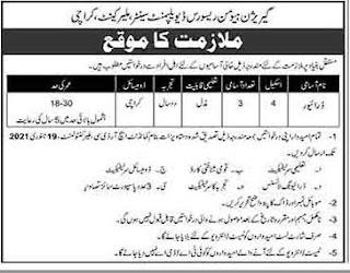 Join Pak Army Garrison HRDC Karachi Jobs 2021 Advertisement