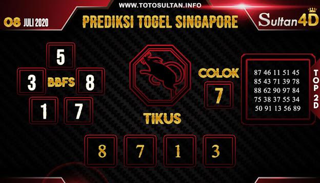 PREDIKSI TOGEL SINGAPORE SULTAN4D 08 JULI 2020