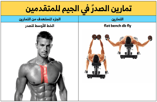 تمارين الصدر ,تتمرين الخط الأوسط للصدر