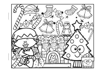 Datas comemorativas, Desenhos para colorir, Natal, passatempo,