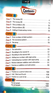 محتويات كتاب بوني الصف الثانى الابتدائي الترم الثانى pony maths 2