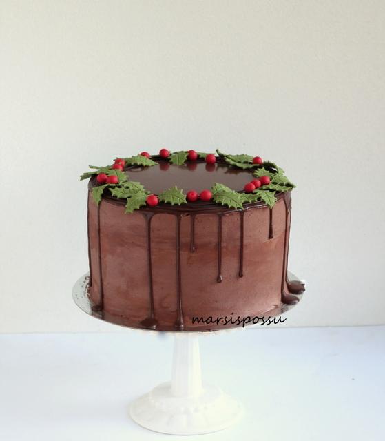 Mistelinoksin koristeltu kakku