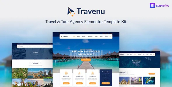 Best Travel and Tour Agency Elementor Template Kit