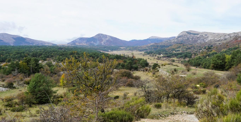 View to West Plateau Caussols