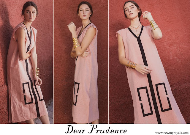 Queen Letizia wore Dear Prudence kaftan coral