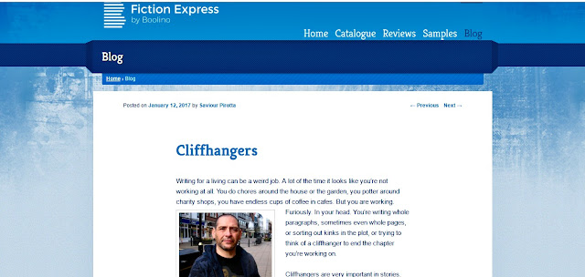screen shot of the author's blog