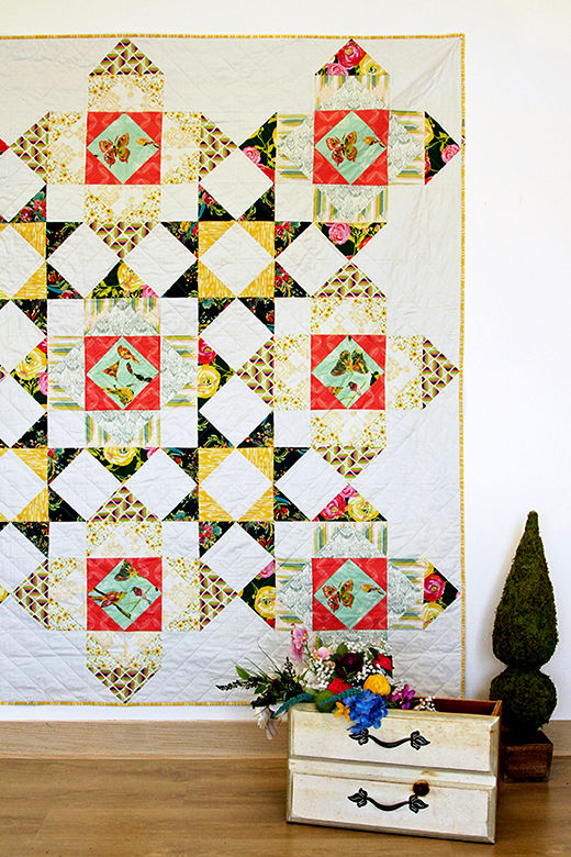 Bisou Bisou Quilt Free Pattern designed by Bari j of Live art gallery fabrics