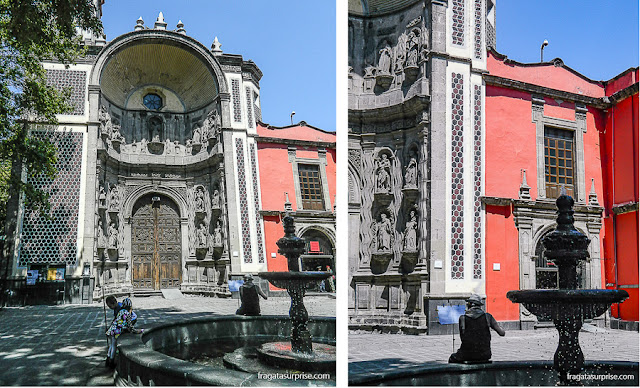 Igreja de Santa Veracruz, no Centro Histórico da Cidade do México