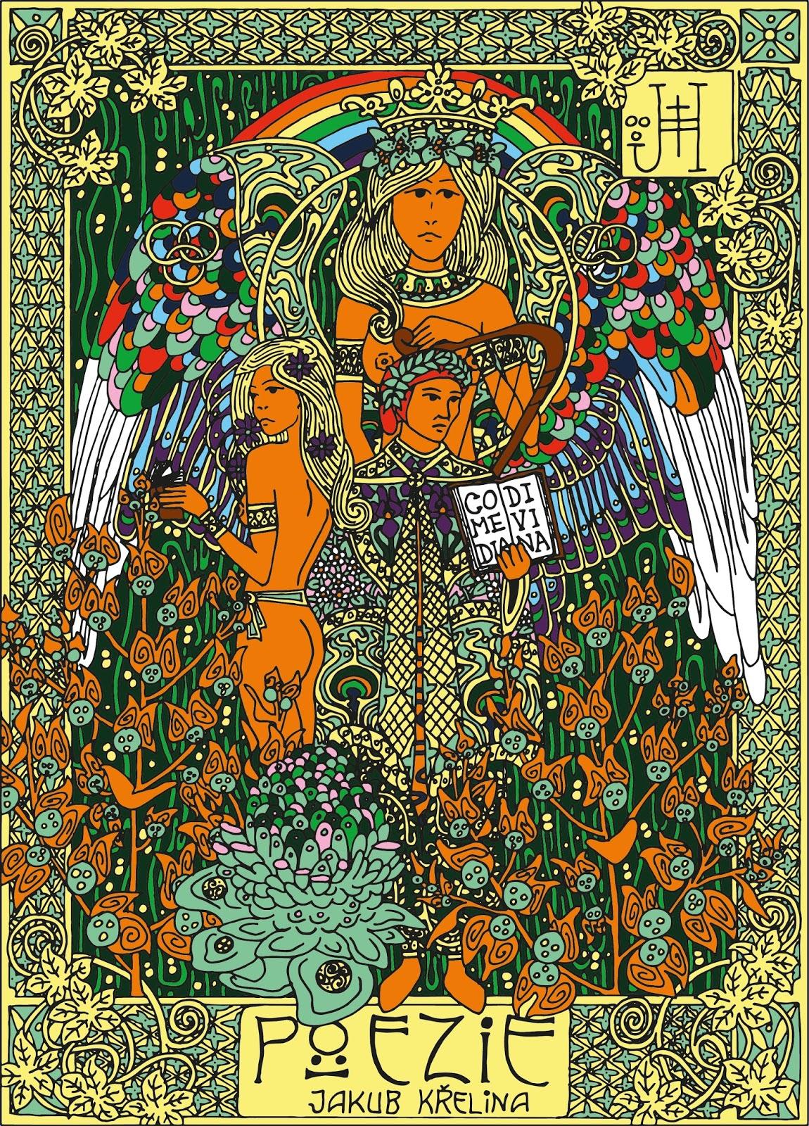 Ilustrace obálky básnické sbírky Poezie (autor Jan Hachran)