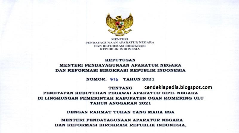 Rincian Formasi CASN CPNS PPPK Kabupaten Ogan Komering Ulu ...