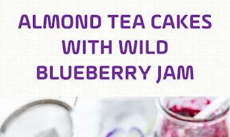 Almond Tea Cakes with Wild Blueberry Jam