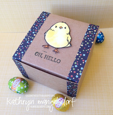 Stampin' Up! Honeycomb Happiness, Honeycomb Embellishments, Easter Card and Gift Box created by Kathryn Mangelsdorf
