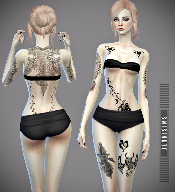 Jennisims Downloads Sims 4 Collectiontattoos Tough Girl