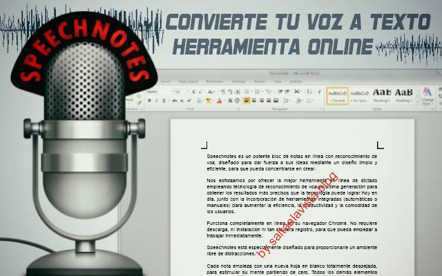 Speechnotes Aplicación Online para Convertir Tu Voz en Texto by Saltaalavista Blog