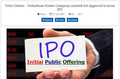Terhathum Power Company Limited Approval to Issue IPO Share