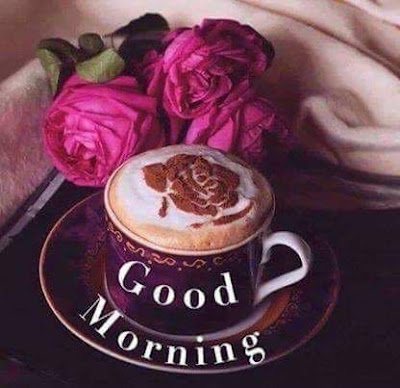 cup of coffee with rose for good morning