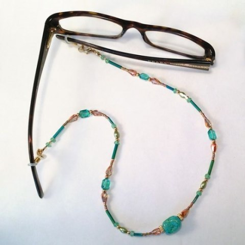 convertible eyeglass holder necklace  tutorial