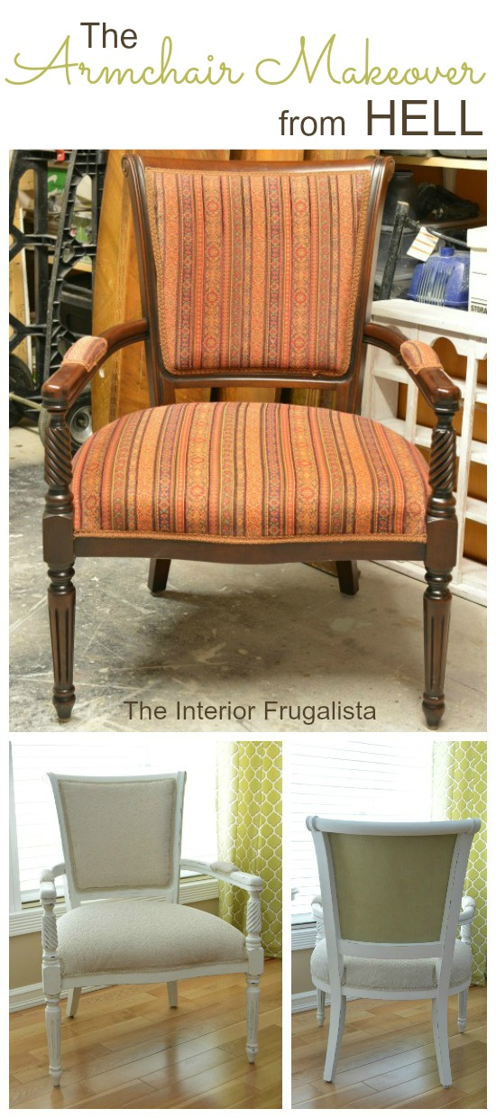 Armchair Makeover Before and After