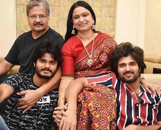 Anand Devarakonda With His Family