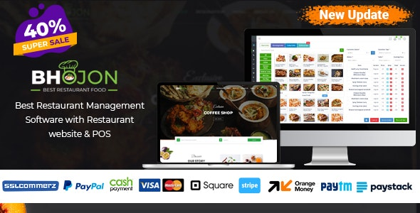Bhojon php script– Best Restaurant Management Software with Restaurant Website