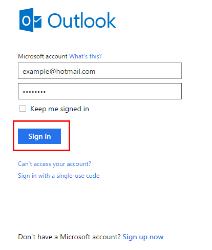 Image result for Access code features for Hotmail accounts