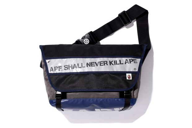BAPE just announced their release of a new messenger bag via its official  Twitter page. With a blue tarpaulin base that s been branded with the  label s name ... 40f04238c13ee