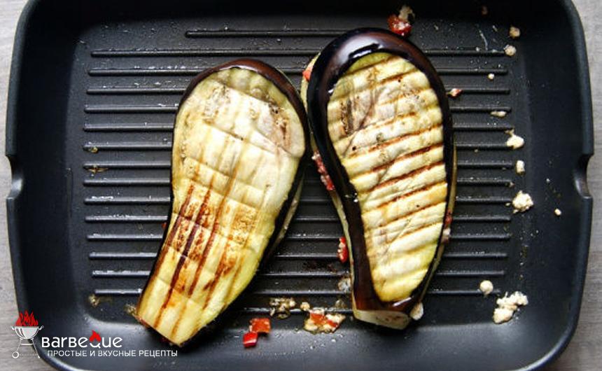 Баклажаны с сыром на сковороде-гриль