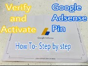 How to Verify and Activate - Google Adsense Pin