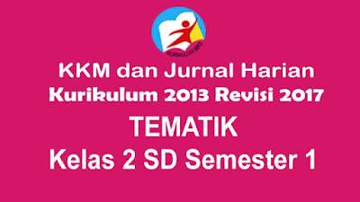 Penetapan KKM dan Jurnal Harian Tematik Kelas 2 SD Kurikulum 2013 Revisi 2017
